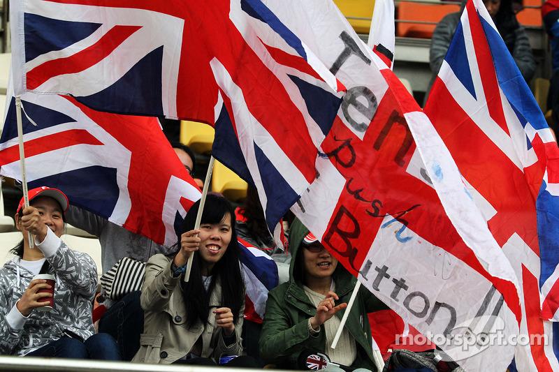 Jenson Button, McLaren fan e bandiere