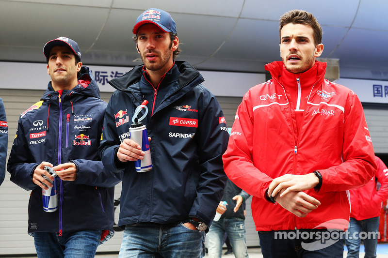 Daniel Ricciardo, Red Bull Racing with Jean-Eric Vergne, Scuderia Toro Rosso and Jules Bianchi, Maru