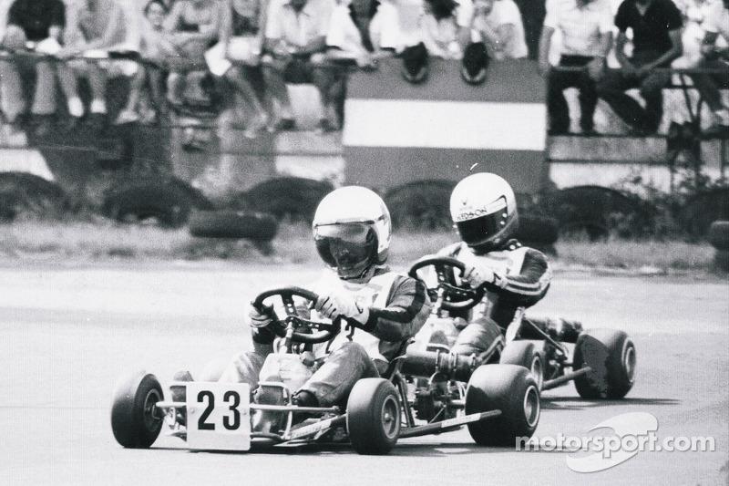 Terry Fullerton leads Ayrton Senna