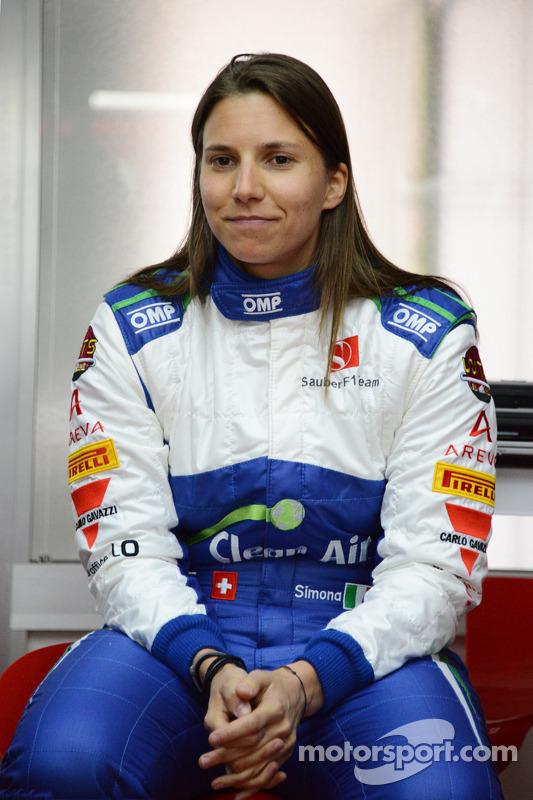 Simona de Silvestro testa Sauber F1