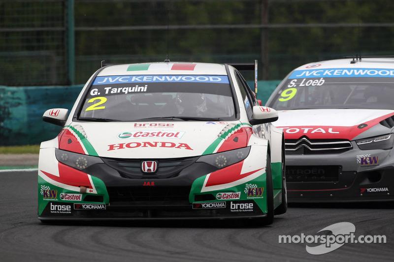 Gabriele Tarquini, Honda Civic WTCC, Castrol Honda WTCC Team e Sébastien Loeb, Citroen C-Elysee WTCC