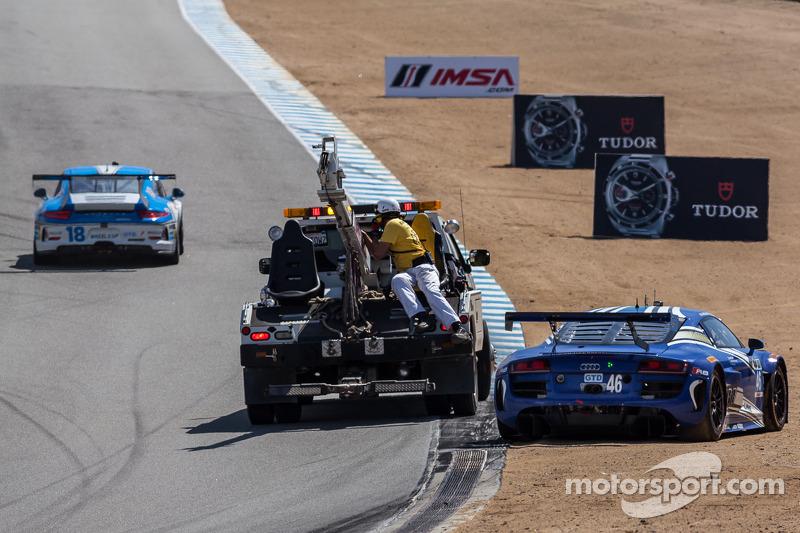 遇到问题,#46 Fall-Line Motorsports 奥迪R8 LMS: Charles Espenlaub, Charlie Putman