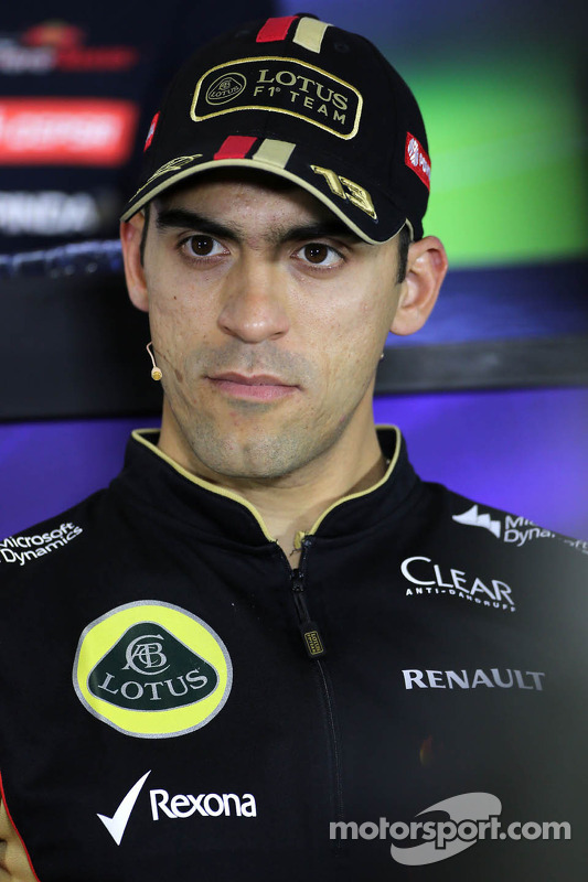 Pastor Maldonado, Lotus F1 Team, durante a conferência de imprensa
