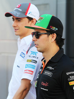 Sergio Perez, Sahara Force India F1 ve Esteban Gutierrez, Sauber
