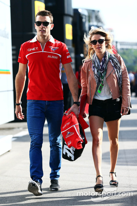 Jules Bianchi, Marussia F1 Team with his girlfriend Camille Marchetti at Spanish GP