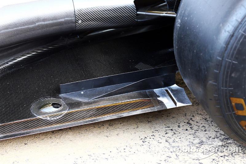 Mercedes AMG F1 W05 detalle del piso