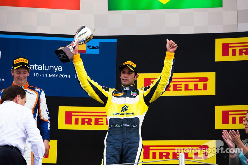 Em 2014, o brasileiro finalmente venceu pela GP2, conquistando 4 triunfos, 10 pódios e uma pole, finalizando a temporada em terceiro.