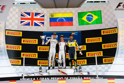 Podium: race winner Johnny Cecotto, second place Jolyon Palmer, third place Felipe Nasr