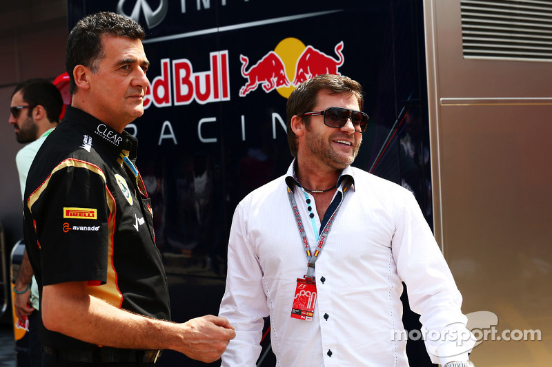 (L to R): Federico Gastaldi, Lotus F1 Team Deputy Team Principal with Steve Robertson, Driver Manager