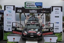 Podium: Nasser Al Attiyah and Giovanni Bernacchini, Ford Fiesta RRC