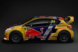 Автомобиль Peugeot 208 WRX Кевина Хансена, Team Peugeot Total