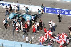 Antonio Felix da Costa, Andretti Formula E Team, Felix Rosenqvist, Mahindra Racing, sur la grille