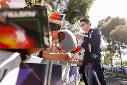 Esteban Ocon, Force India, signs an autograph