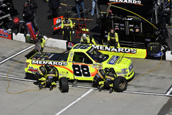 Matt Crafton, ThorSport Racing, Ford F-150 Ideal Door/Menards , makes a pit stop