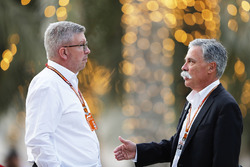 Ross Brawn, Motorsporları Direktörü, FOM, ve Chase Carey, CEO, Formula One