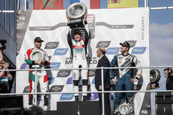 Podium: Race winner Jean-Karl Vernay, Audi Sport Leopard Lukoil Team Audi RS 3 LMS, second place Mehdi Bennani, Sébastien Loeb Racing Volkswagen Golf GTI TCR, third place Pepe Oriola, Team Oscaro by Campos Racing Cupra TCR