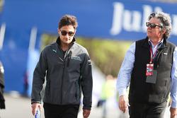 Mitch Evans, Jaguar Racing, on a track walk