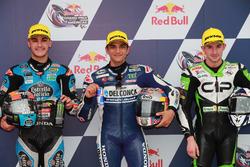 Top3 after qualifying: Aron Canet, Estrella Galicia 0,0, Jorge Martin, Del Conca Gresini Racing Moto3, John McPhee, CIP-Unicom Starker