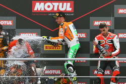 Podyum: Yarış galibi Jules Cluzel, NRT, third place Raffaele De Rosa, MV Agusta Reparto Corse by Vamag