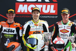 Podium SSP300: Race winner Luca Grunwald, second place Glenn Van Straalen, third place Scott Deroue