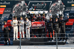 Podium: Race winner #1 Belgian Audi Club Team WRT Audi R8 LMS: Alex Riberas, Christopher Mies, Dries Vanthoor, second place #43 Strakka Racing Mercedes-AMG GT3: Maximilian Buhk, Maximilian Götz, Alvaro Parente, third place #4 Black Falcon Mercedes-AMG GT3: Maro Engel, Yelmer Buurmann, Luca Stolz