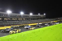 Parker Kligerman, Henderson Motorsports, Chevrolet Silverado Food Country USA and Cody Coughlin, GMS Racing, Chevrolet Silverado Jeg's.com