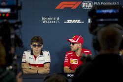 Charles Leclerc, Sauber and Sebastian Vettel, Ferrari in the Press Conference