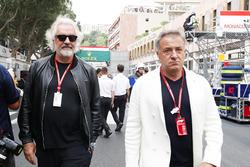 Flavio Briatore and Jean Alesi