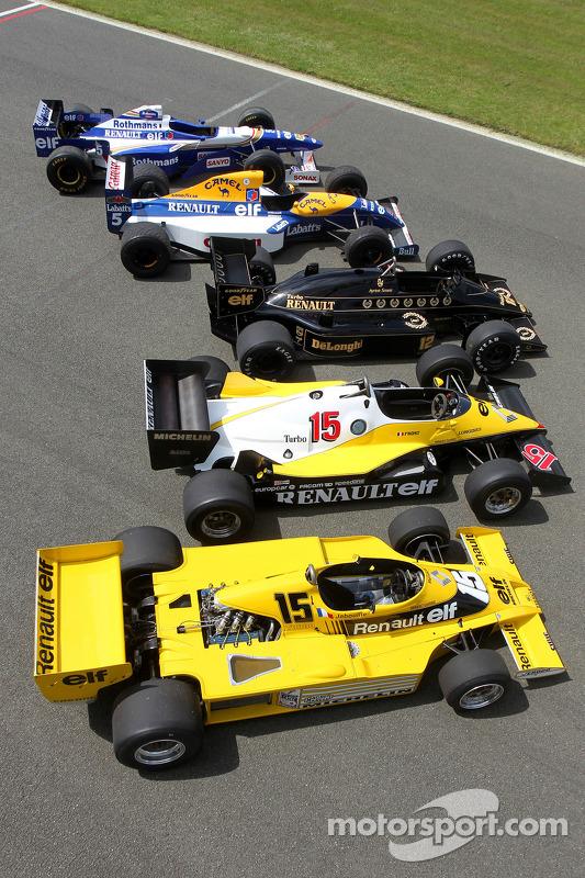 Clássico carros da Renault de F1