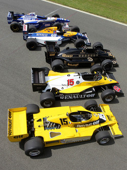 Classic Renault Sport Formula One cars
