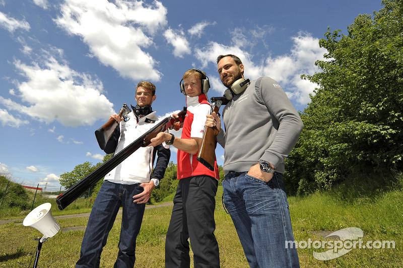Tiro al piattello con Mattias Ekstrom, Audi Sport Team Abt Sportsline, Audi RS 5 DTM, Marco Wittmann