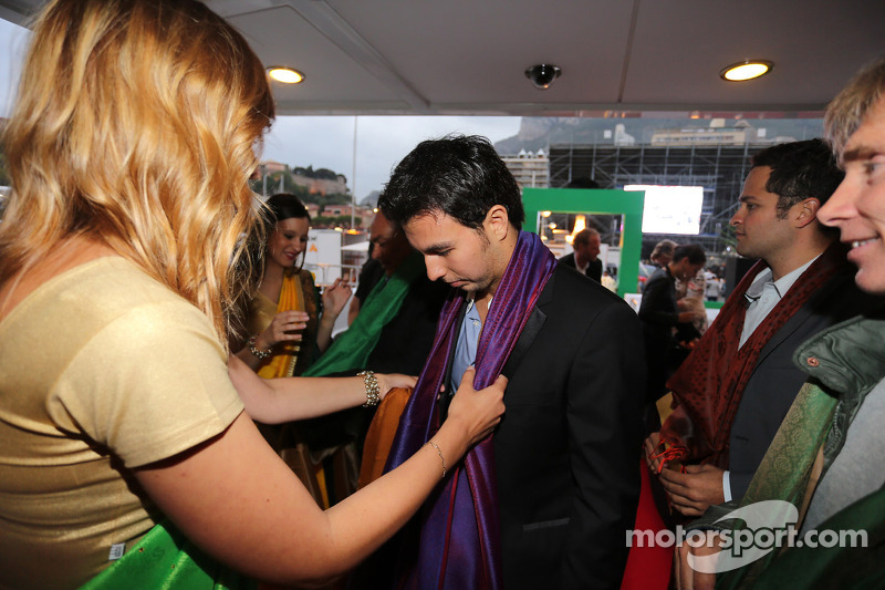 Sergio Perez, Sahara Force India F1 al Signature Monaco Party