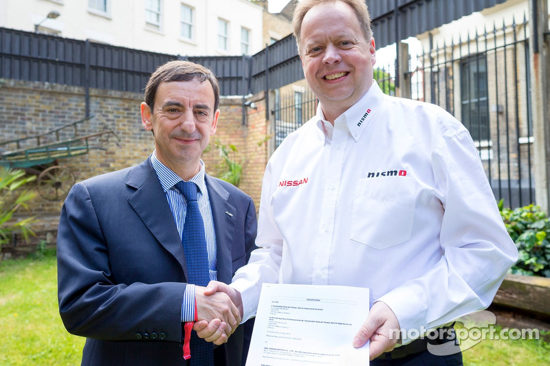 ACO President Pierre Fillon with Nissan Chief Planning Office & Executive Vice-President, Andy Palme