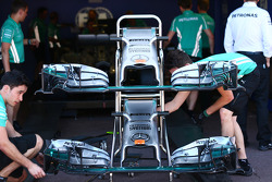 Conos de nariz del Mercedes AMG F1 W05