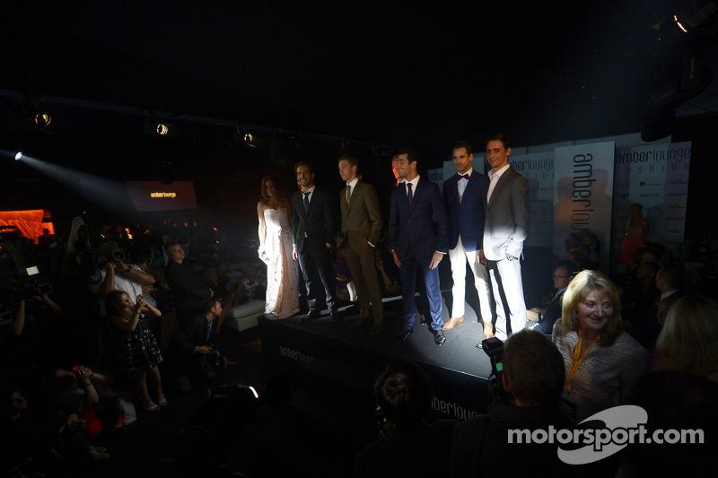 I piloti all'Amber Lounge Fashion Show, la Scuderia Toro Rosso; Daniil Kvyat, Scuderia Toro Rosso; Max Chilton, Marussia F1 Team; Daniel Ricciardo, Red Bull Racing; Adrian Sutil, Sauber; Esteban Gutierrez, Sauber