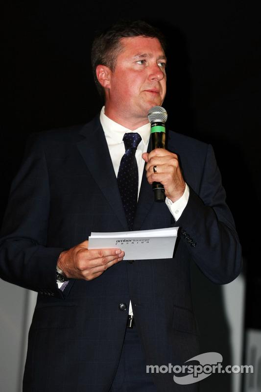 David Croft, comentarista da Sky Sports no Amber Lounge Fashion Show