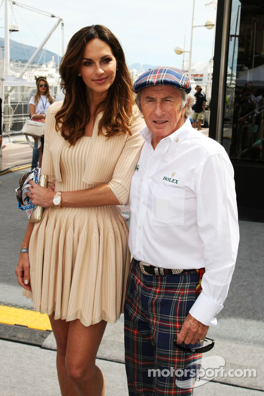 (L to R): Tasha de Vasconcelos, Model and Actress with Jackie Stewart