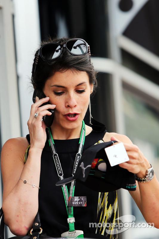 Marion Jolles Grosjean, esposa de Romain Grosjean, Lotus F1 Team