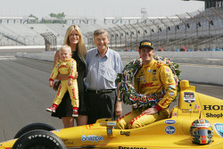 Speedway historian Donald Davison with Ryan, Beccy and Ryden Hunter-Reay