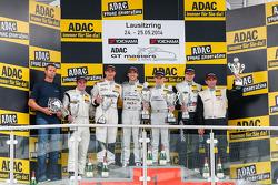 Podium: race winners Maximilian Götz, Maximilian Buhk, second place Robert Renauer, Norbert Siedler, third place Daniel Keilwitz, Oliver Gavin