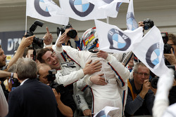 Marco Wittmann, BMW Team RMG BMW M4 DTM celebrate his victory