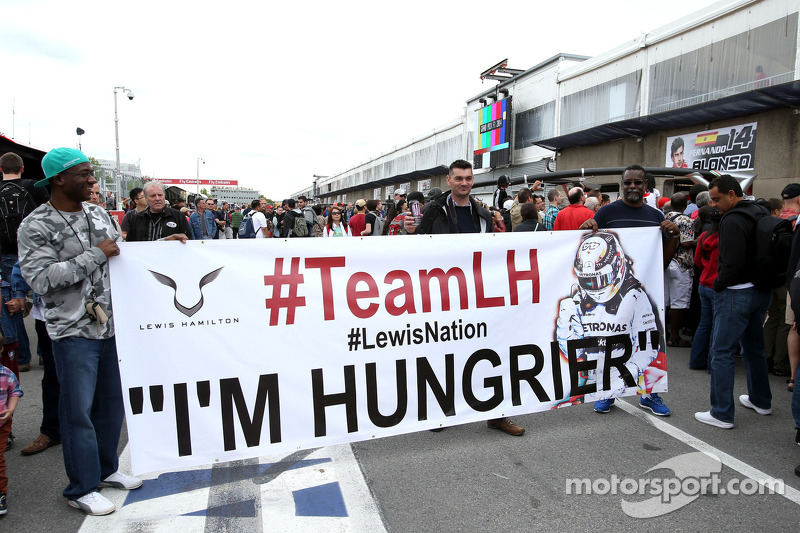 Fans of Lewis Hamilton, Mercedes AMG F1 Team