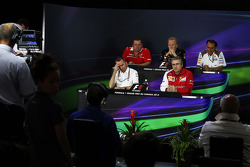 The FIA Press Conference, Marussia F1 Team Race Engineer; Andrew Green, Sahara Force India F1 Team Technical Director; Giampaolo Dall'Ara, Sauber F1 Team Head of Track Engineering; Paddy Lowe, Mercedes AMG F1 Executive Director, Ferrari Deputy Technical D