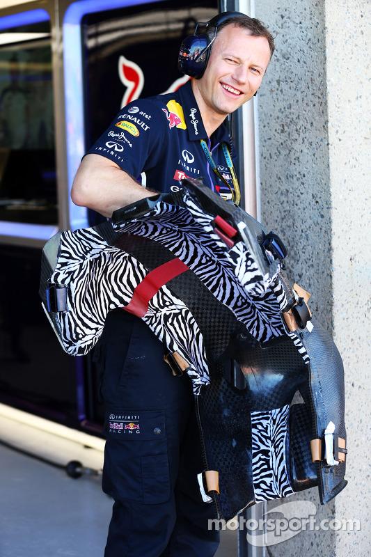 Il sedile di Sebastian Vettel, Red Bull Racing