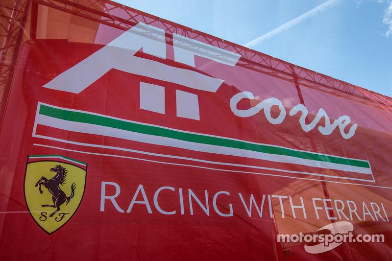 AF Corse paddock area