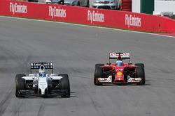 Felipe Massa, Williams FW36 ve Fernando Alonso, Ferrari F14-T