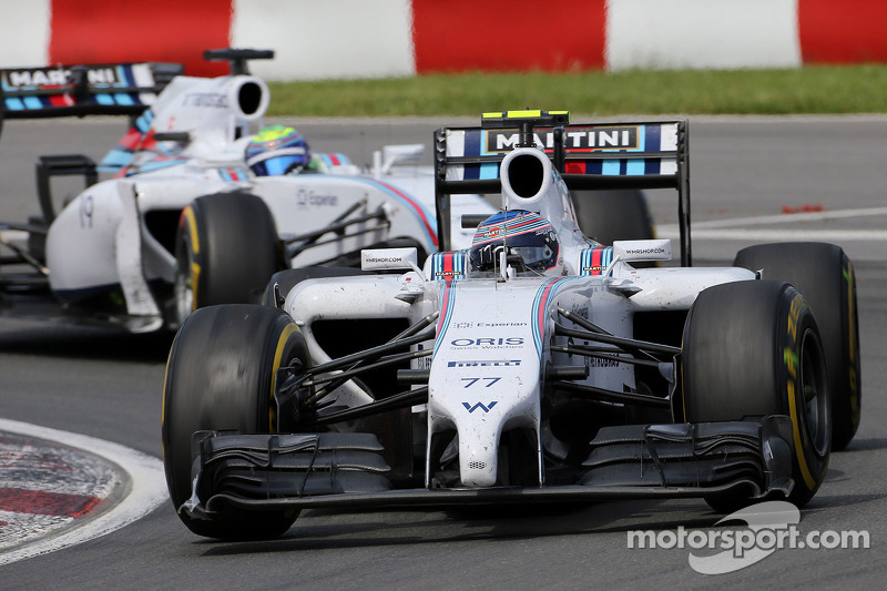 Valtteri Bottas, Williams FW36; Felipe Massa, Williams FW36