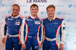 Sergey Zlobin, Anton Ladygin and Mika Salo