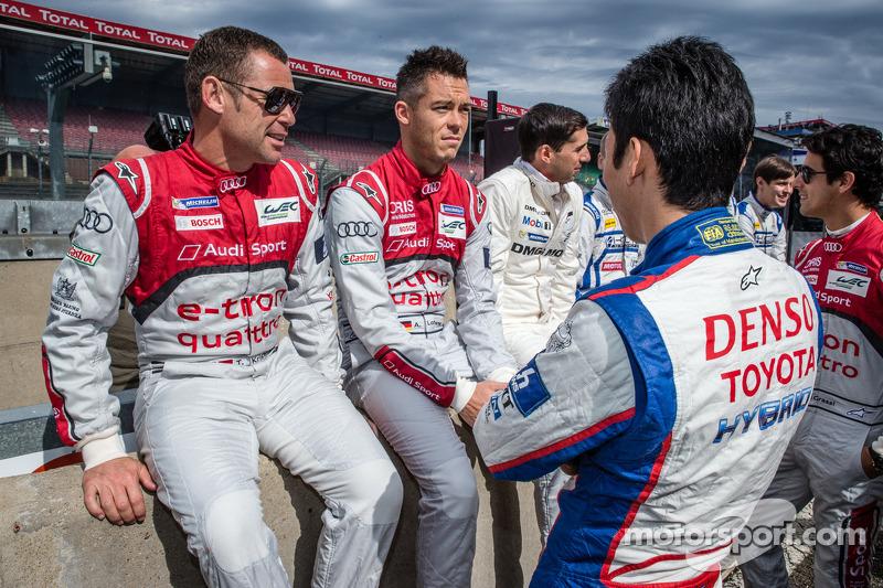 Tom Kristensen, Andre Lotterer e Kazuki Nakajima