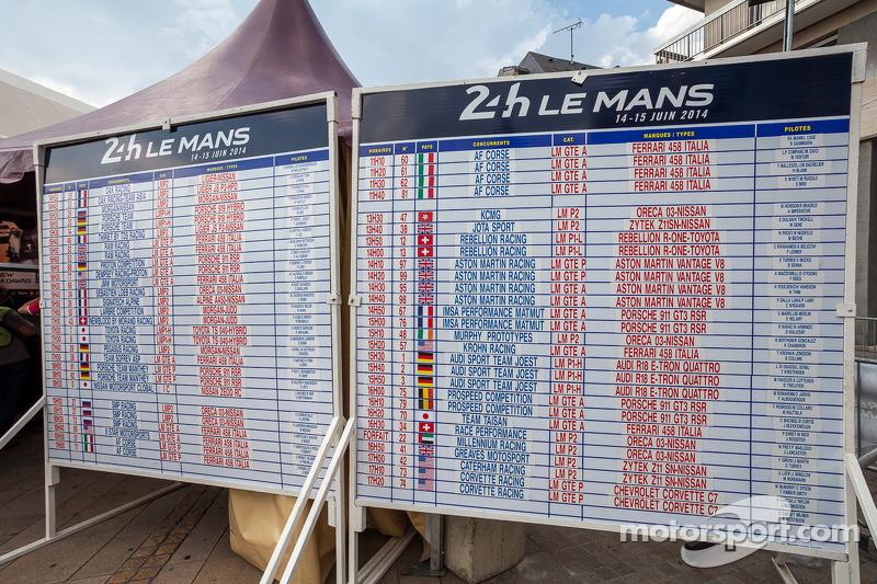 Le auto della 82esima 24 Ore di Le Mans alel verifiche